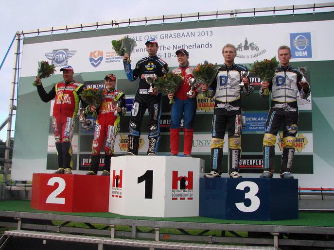 Tijdens de ONK finales in Eenrum 2013, een derde plek voor team Noordman