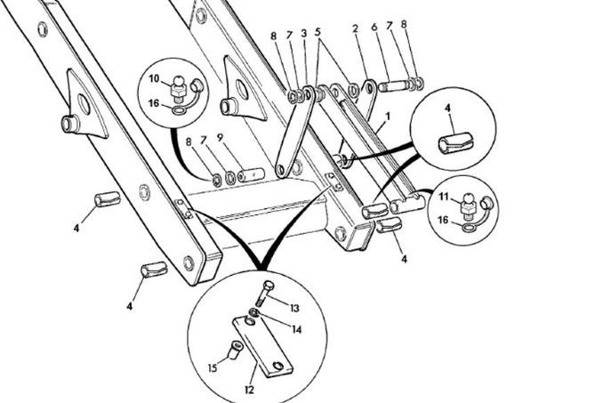 Крепление переднего ковша JCB 3CX