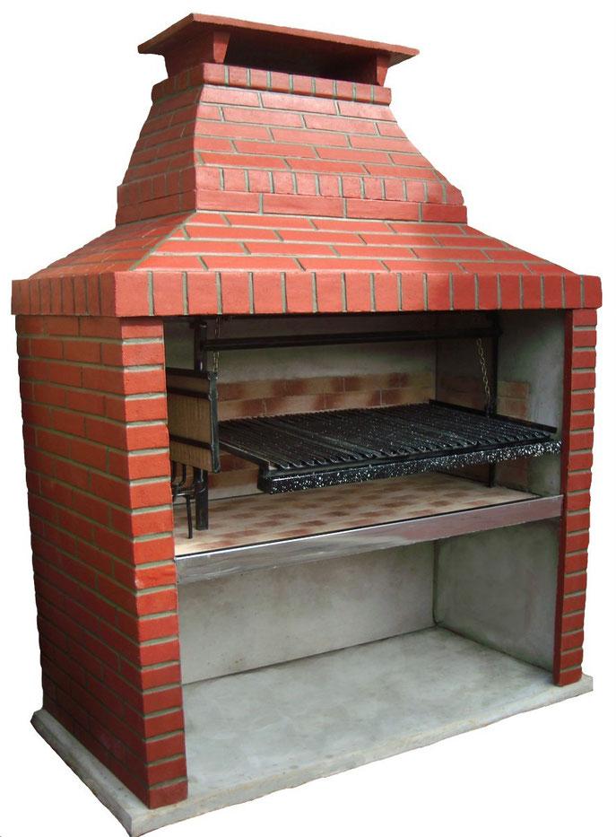 Parrillas simil ladrillo don parrilla fabrica de for Parrillas para casas modernas