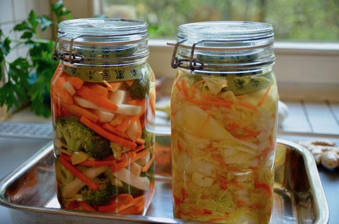 Gemüse fermentieren- leckerer Chinakohl nach Kimchi Art