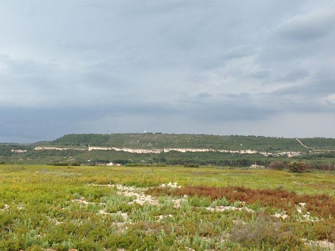 Plateau de La Croix et au fond plateau de la Tour Carrée