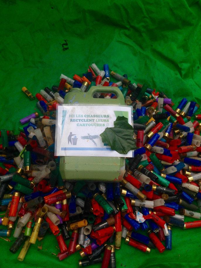 450 cartouches recycléesaux points de collecte
