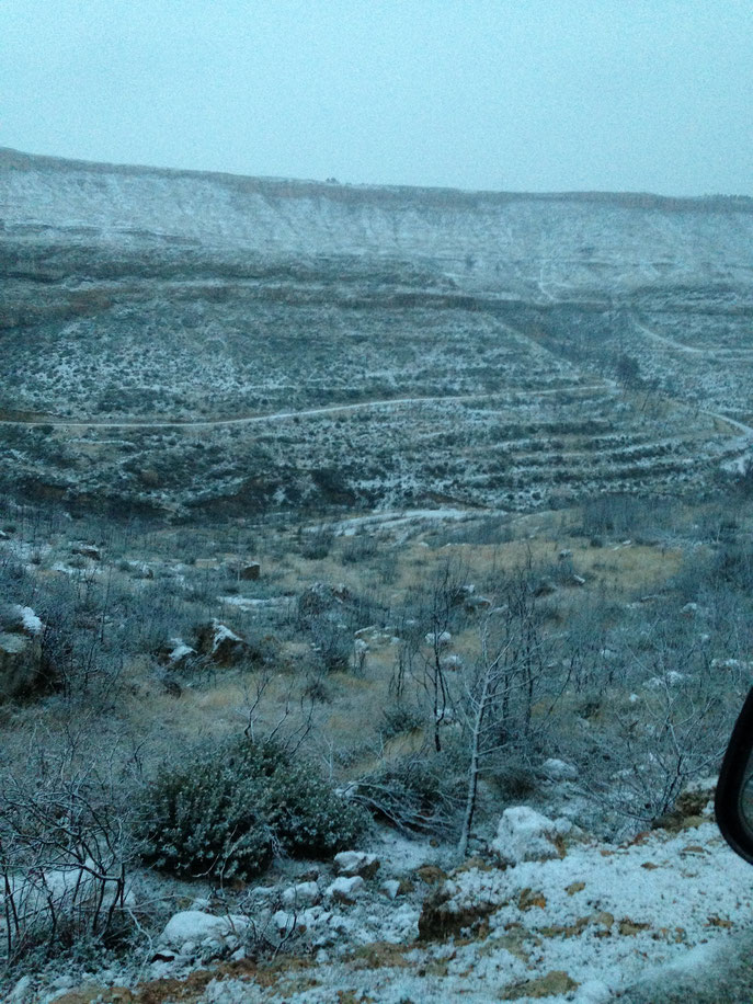 Cantini sous la neige