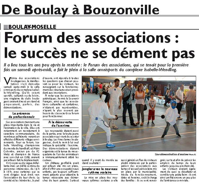 escrime boulay forum des associations 2014