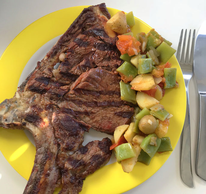 Porterhouse Steak, Campingrezept