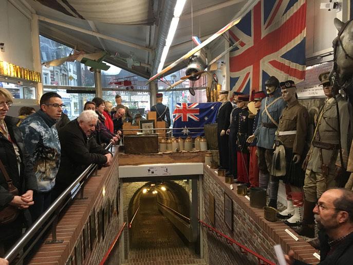 Après un chaleureux accueil en mairie la veille, nous voici à Albert pour y découvrir son musée 14/18. Le guide était top.