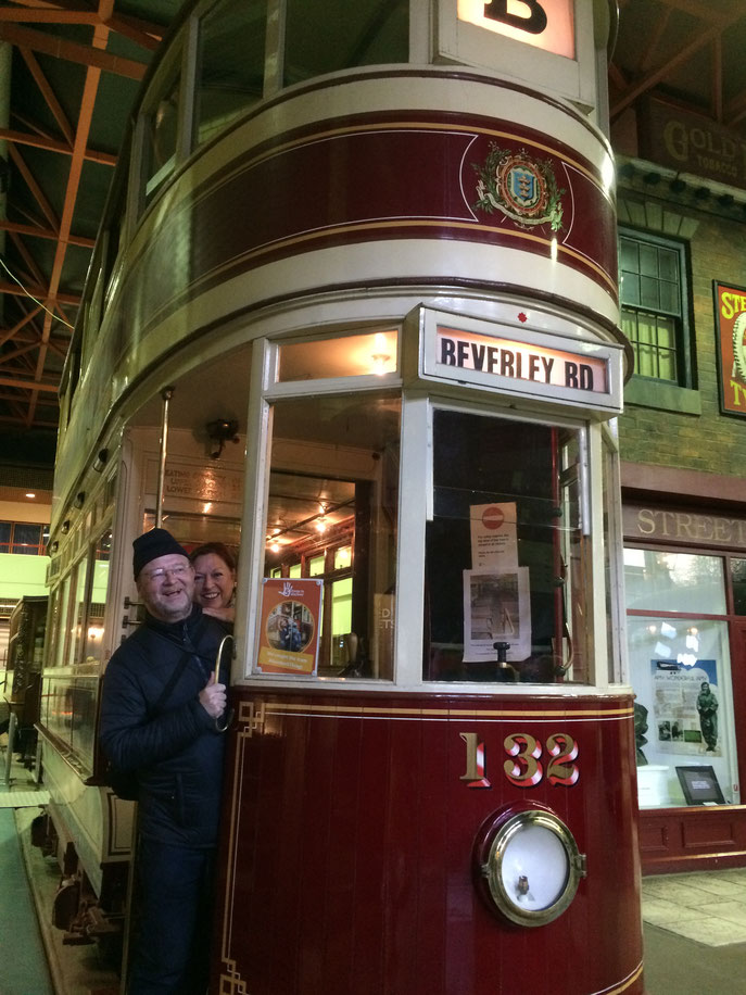 Visite du musée des transports à Hull. On a bien ri !