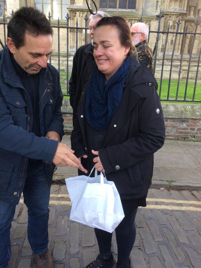 On a même eu droit à des cadeaux d'au revoir. Merci Nancy !!!