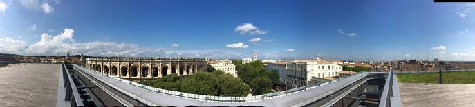 Vue sur Nîmes depuis le Rooftop