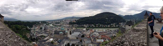 Salzbourg de la terrasse de la citadelle