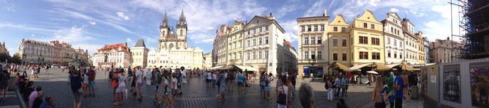 La Grande place dans le centre historique.