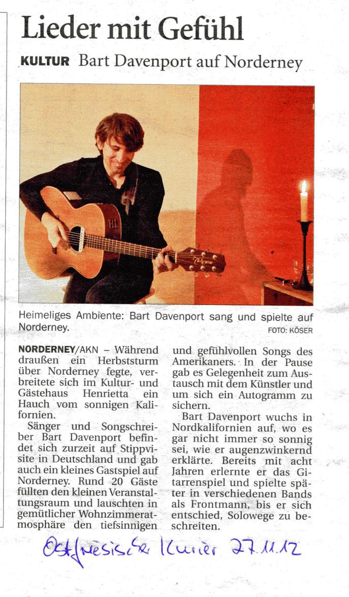 Ostfriesischer Kurier (27.11.2012)