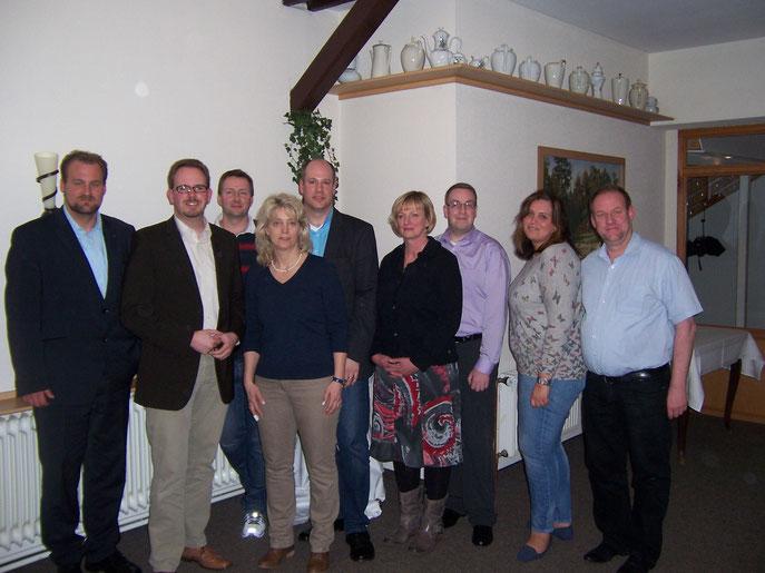 Der neue Vorstand mit Martin Vogt (Vorsitzender CDU Wurster Nordseeküste) und Bürgermeisterkandidat Marcus Itjen (v.l.)
