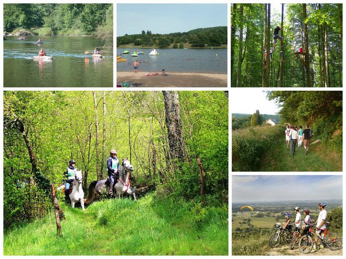 activités de pleine nature dans Les Monts de Guéret et dans les 3 Lacs