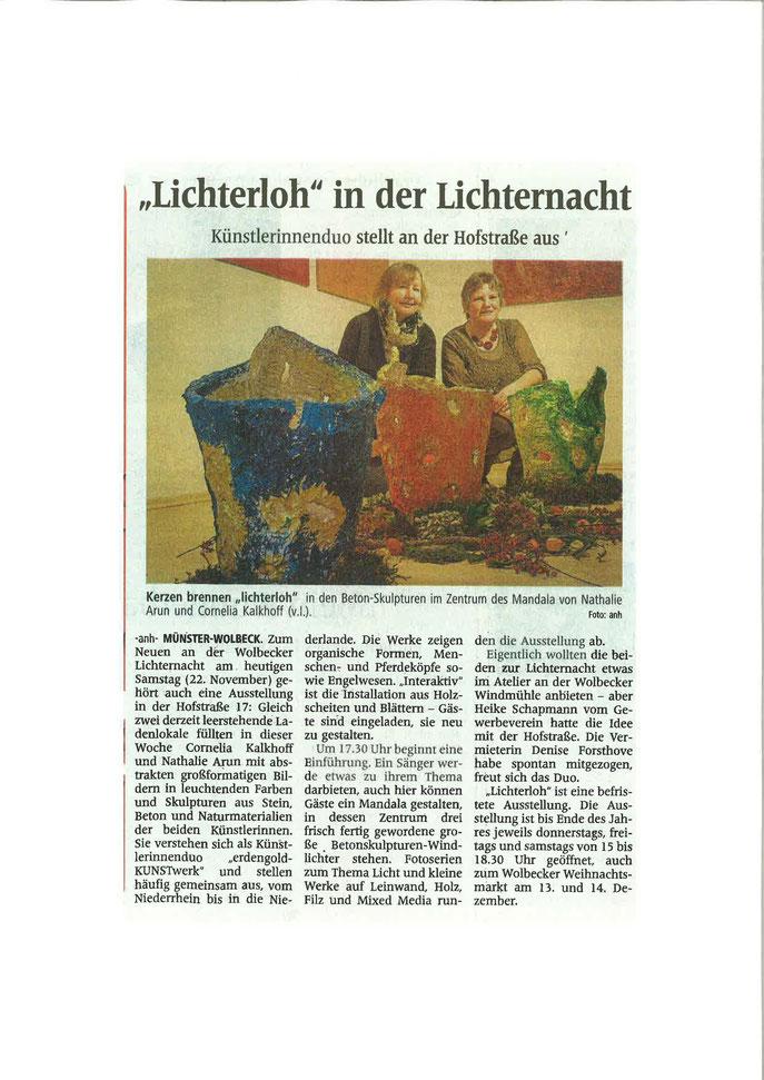 Westfälische Nachrichten 22.11.2014