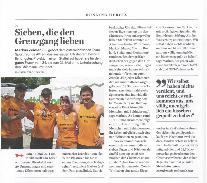 Artikel in der Runners World