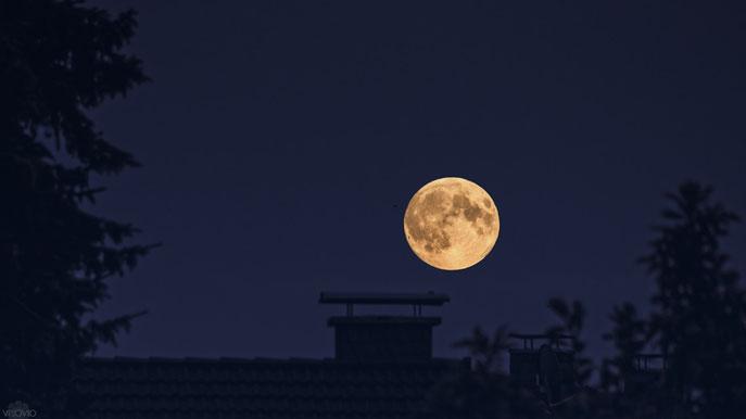 aufgehender supermond in der blutmondnacht | visovio 092015 | ascheberg   #nachthimmel  #mofi2015 #supermond