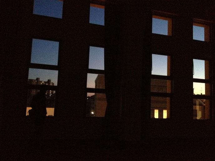 3Fの窓からみた風景