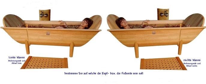 Holzbadewanne       Qelle: Salzburger Holzbadewannen