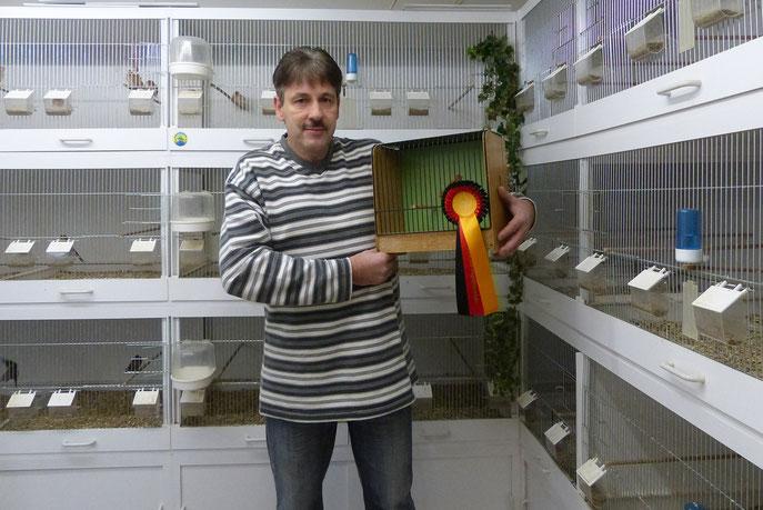 """Deutscher Meister"""" mit Birkenzeisig Braunkobalt"""