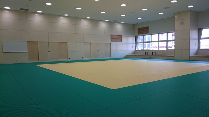 北ガスアリーナ札幌46(札幌市中央体育館)の柔道室です。