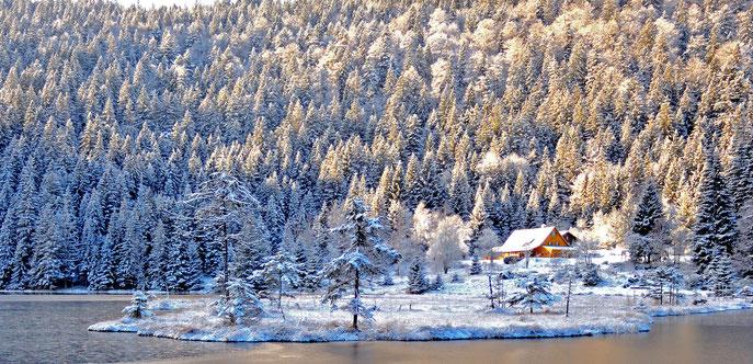 Winteranfang am Kleinen Arbersee