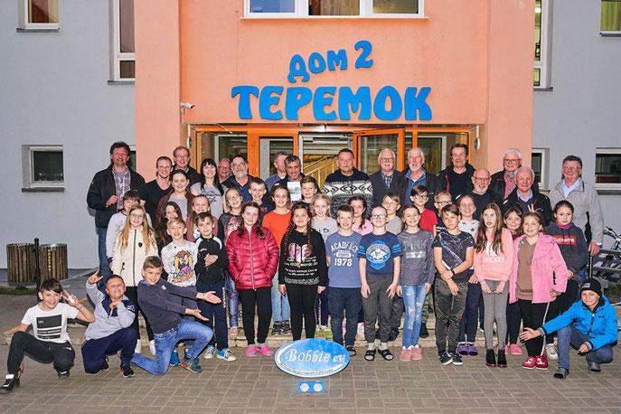 Die diesjährige Truppe mit weißrussischen Kollegen