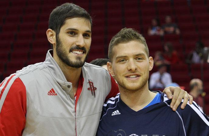 Omri Casspi (l.) und Gal Mekel