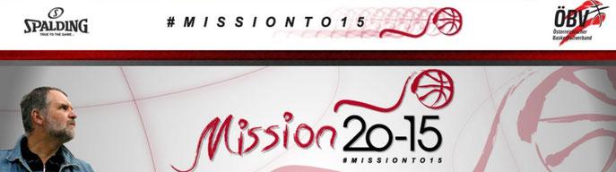Startseite der Internetseite des ÖBV mit dem Schriftzug Mission 20-15