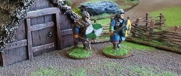 Tabletop wargame in Viking age.