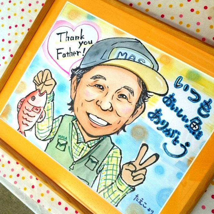 父の日プレゼント 人気の似顔絵