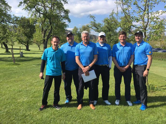 Von links: Sebastian Keller, Markus Maier, Wilhelm Rudorf, Michael Reiher, Christoph Baldermann und Michael Maier - © Golfclub Reutlingen-Sonnenbühl e.V.