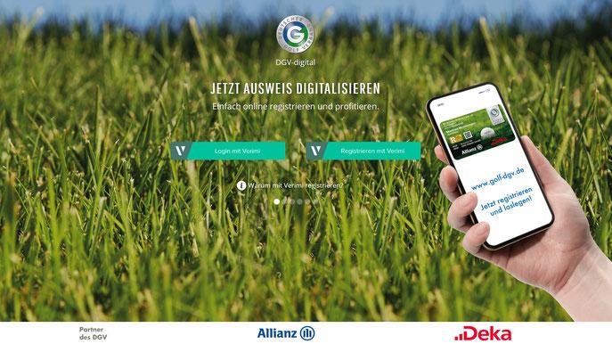 Einmal registriert steht den Golfern in Zukunft die Qualifizierte elektronische Scorekarte zur Verfügung. Registrieren Sie sich über die DGV-Website golf-dgv.de - © DGV