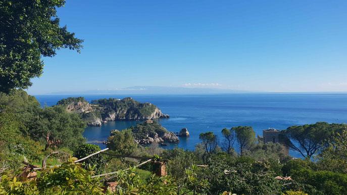 Taormina mit der Isola Bella - © Kai Wunner