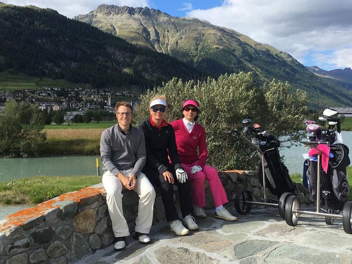 Von links: Dirk Herrmann, Rena Rusko und Hanne Schaal - © Golfclub Reutlingen-Sonnenbühl e.V.