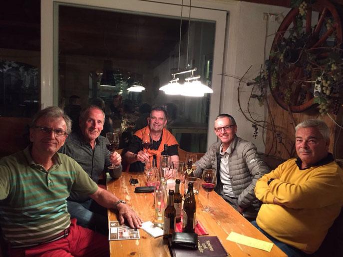 (von links): Wolf-Dieter Baumann, Horst Schäfer, Volker Brändle, Alfred Michelberger, Hans Kittelberger. Es fehlt Jürgen Schaich  - © Golfclub Reutlingen-Sonnenbühl e.V.