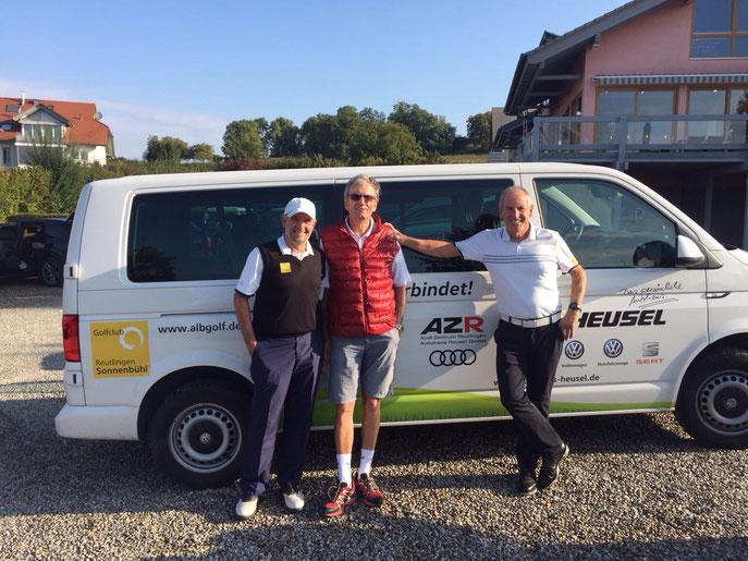 von links: Volker Brändle, Wolf-Dieter Baumann, Horst Schäfer - © Golfclub Reutlingen-Sonnenbühl e.V.