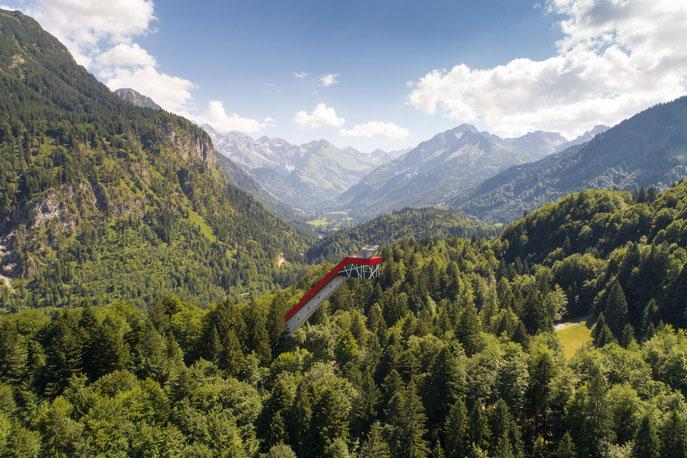 Panorama-Blick in das Stillach-Tal - © Sportstätten Oberstdorf Eren Karaman
