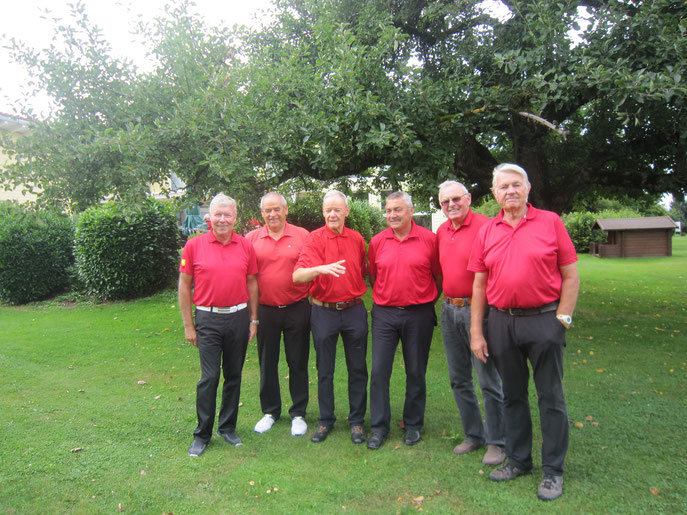 (von links): Walter Möck, Ernst Kern, Harri Jubke, Albert Neth, Willi Maier und Horst-Peter Wiegand - © Golfclub Reutlingen-Sonnenbühl e.V.