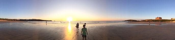 Sonnenuntergang Newquay Beach - © Benjamin Renner