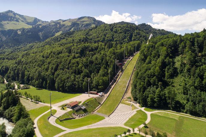 Die Skiflug-Schanze im Stillach-Tal - © Sportstätten Oberstdorf Eren Karaman