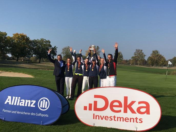 AK 16 Mädchen aus dem GC SLR holen Gold - © Golf Club St. Leon-Rot