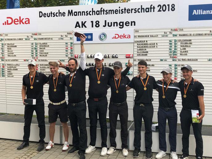 AK 18 Jungen aus dem GC SLR holen Gold - © Golf Club St. Leon-Rot
