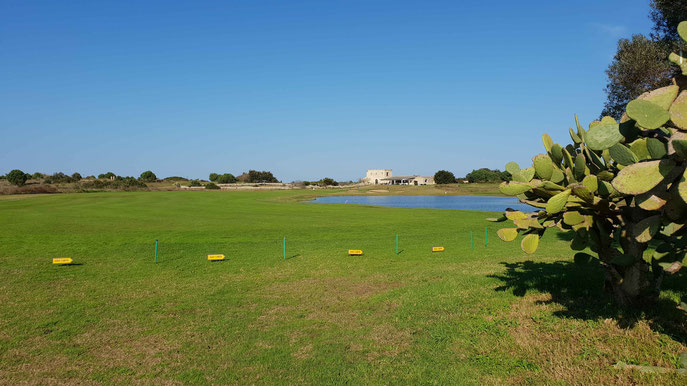 Das Signature Hole 18 Acaya Golf Club - © Kai Wunner