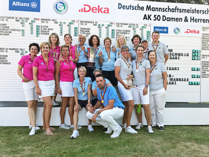 Premierenausgabe der DMM AK 50 Damen geht an den Stuttgarter GC Solitude - © Langer Sport Marketing