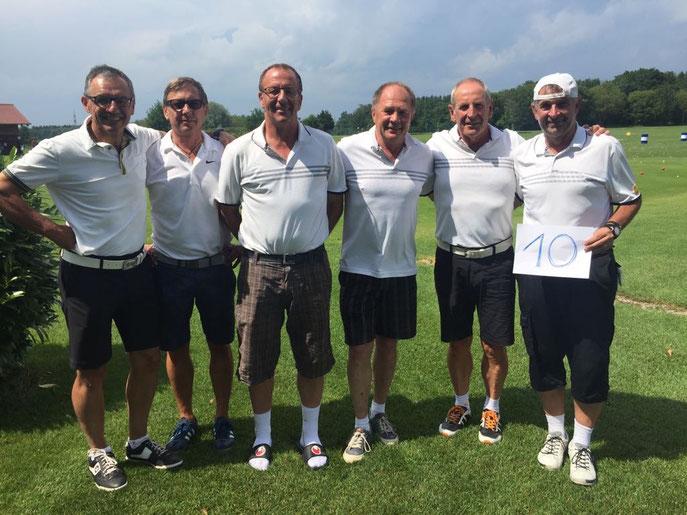 Von links: Alfred Michelberger, Peter-Michael Palkowitsch, Jürgen Schaich, Horst Keller, Horst Schäfer und Volker Brändle - © Golfclub Reutlingen-Sonnenbühl e.V.