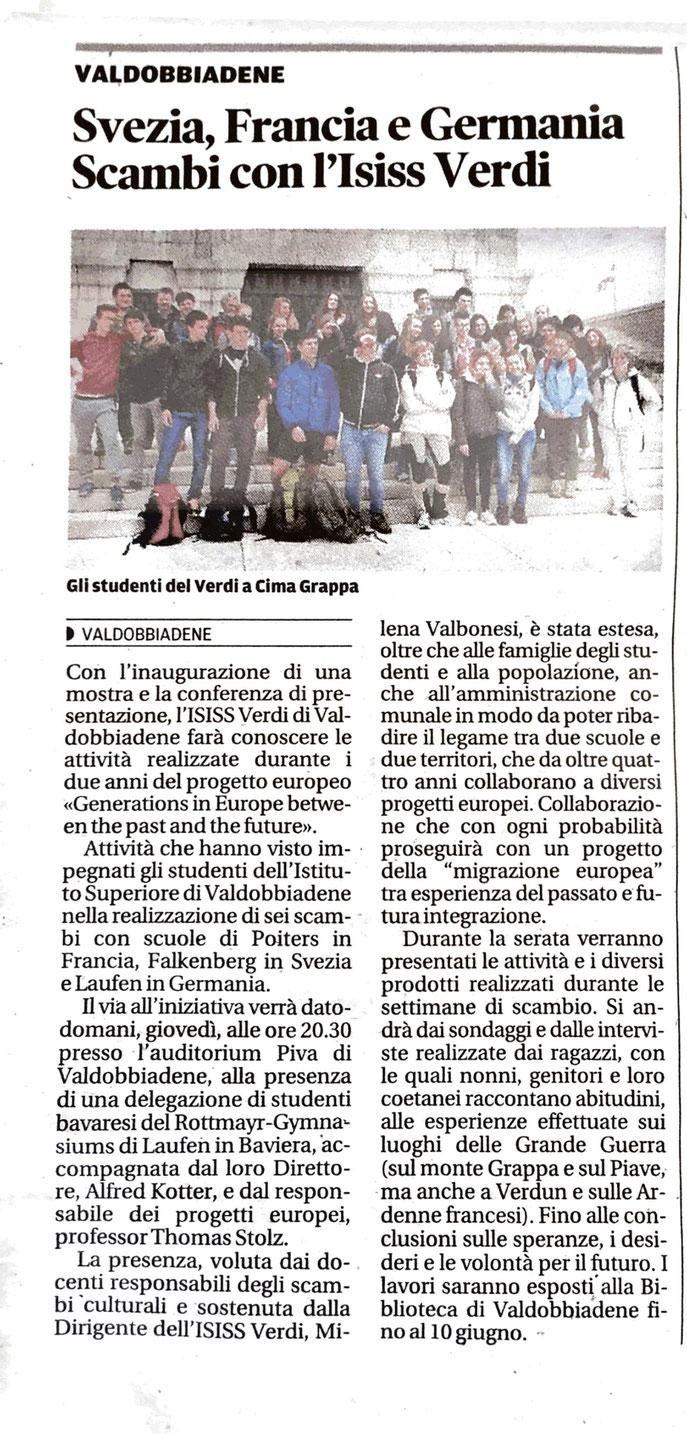 La Tribuna di Treviso 3 June 2015