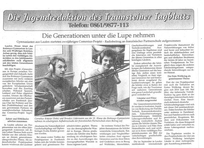 Traunsteiner Tagblatt 01/09/2014