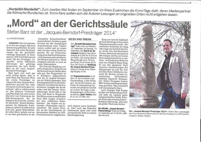 Kölnische Rundschau, 9.4.2014
