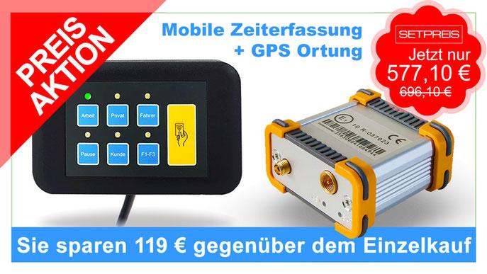 Mobile Arbeitszeiterfassung im Set, mit integriertem RFID-Leser
